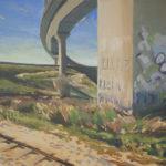 Graffiti en el puente desde el tren - 50x70cm