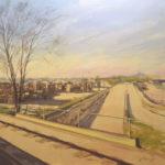 Palés, carretera y polígonos desde el tren
